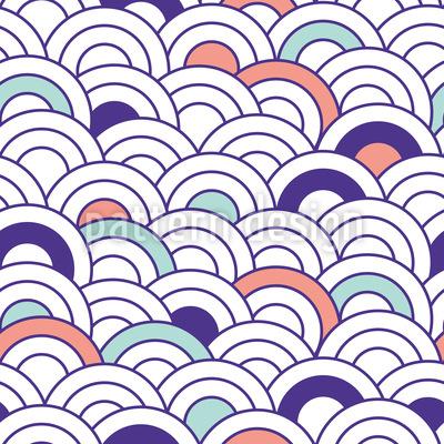 Pfauenkreise Vektor Muster