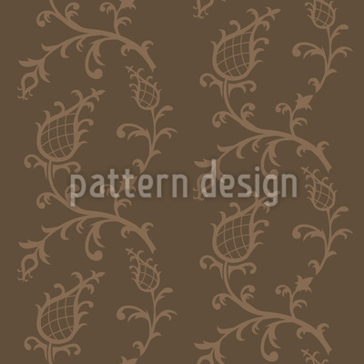 Cinderella Braun Vektor Muster