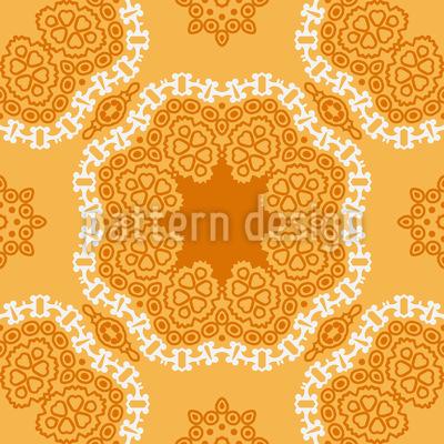 Orientalische Mandalablüten Vektor Ornament