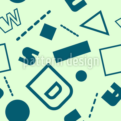 Dada Typography Seamless Vector Pattern Design