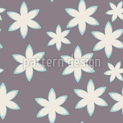 Blumen Stern Rapportiertes Design