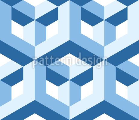 Pseudo Cubos Design de padrão vetorial sem costura