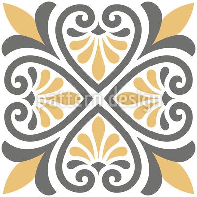 ギリシャタイル シームレスなベクトルパターン設計