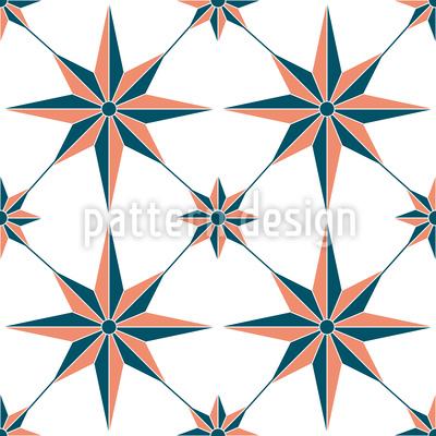 Nautischer Stern Nahtloses Vektormuster