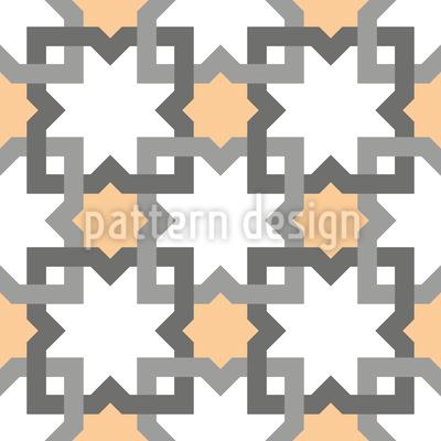 Formas interligadas Design de padrão vetorial sem costura