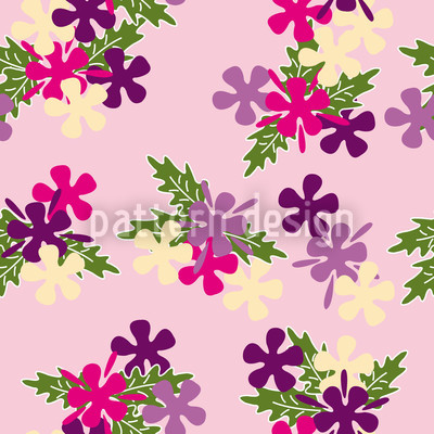 Barbettes Dream Seamless Vector Pattern Design
