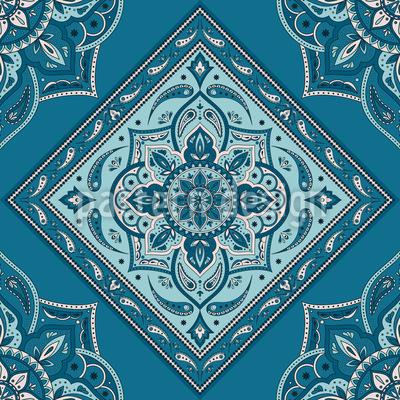 タイル張りインディアンペイズリー シームレスなベクトルパターン設計