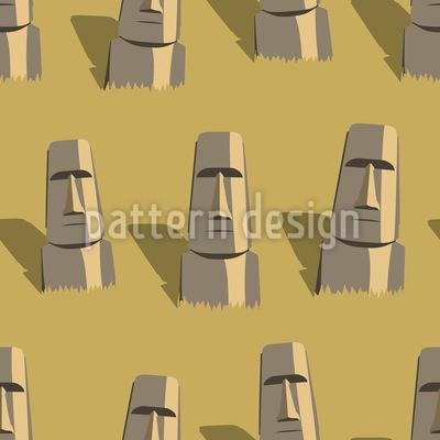 Die Gesichter Der Osterinsel Vektor Muster