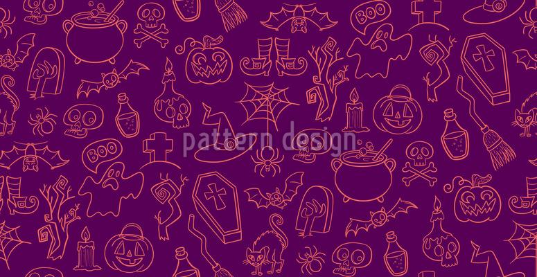Halloween Elemente Designmuster