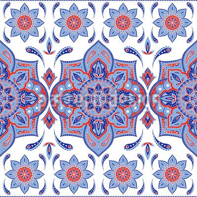 Mandala Mit Paisley Muster Design