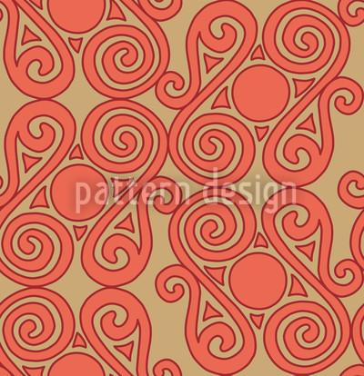 Cucuteni Spiralen Nahtloses Muster