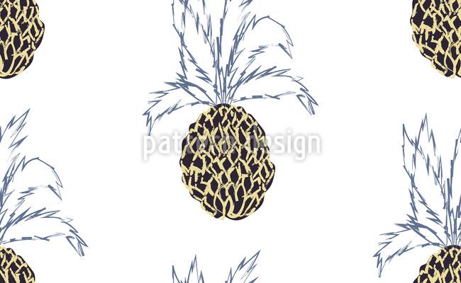 Ananas-Fieber Nahtloses Vektor Muster