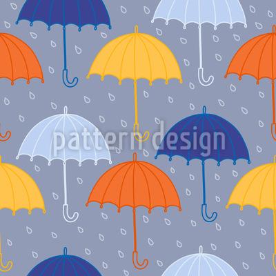 Regenschirm und Regen Rapport