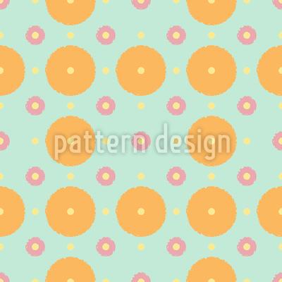 Polka Dots And Disks Vector Pattern
