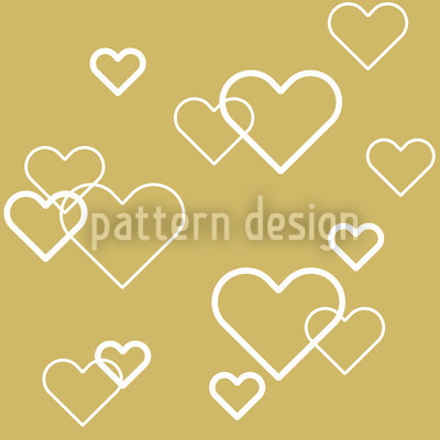 Heart Of Gold Repeating Pattern