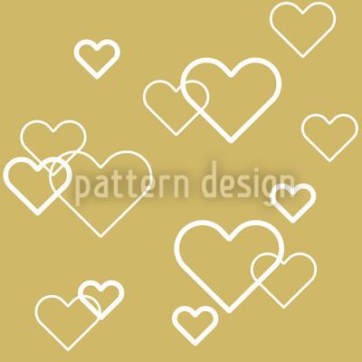Herz Aus Gold Rapportiertes Design