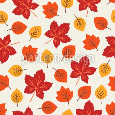 Herbstliche Und Gemütliche Blätter Nahtloses Muster