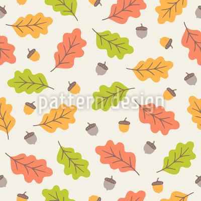 Herbstlicher Blätterfall Vektor Muster