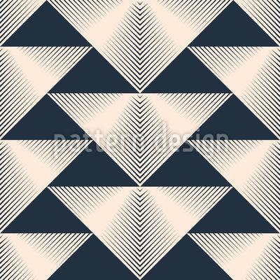 Streifige Dreiecken Rapportiertes Design