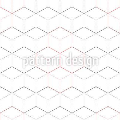 Hexagone Oder Würfel Rapportmuster