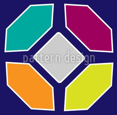 Verspielte Formen Rapportiertes Design