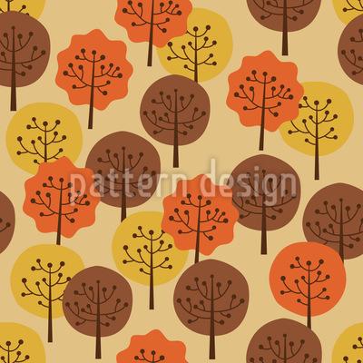 Herbst Wald Vektor Ornament