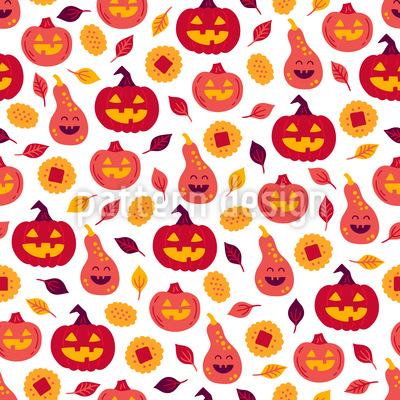 Halloween Kürbis Kekse Vektor Muster