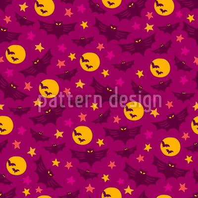 Halloween Nächte Muster Design