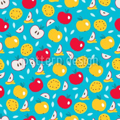 Äpfel Samen Kuchen Und Honig Designmuster