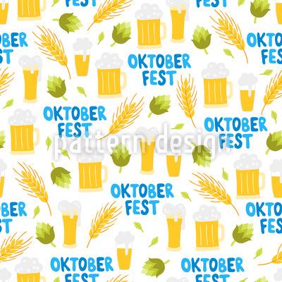 Nettes Oktoberfest Muster Design
