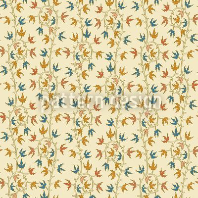 Efeuranken Beige Nahtloses Muster