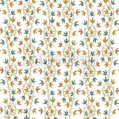 Efeuranken Weiss Nahtloses Vektor Muster
