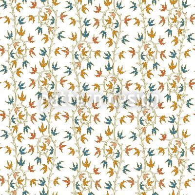 Ivy Tendrillars Blanco Estampado Vectorial Sin Costura
