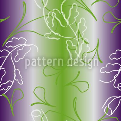Blumen Auf Streif Vektor Muster
