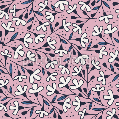 Flower Hike Seamless Pattern