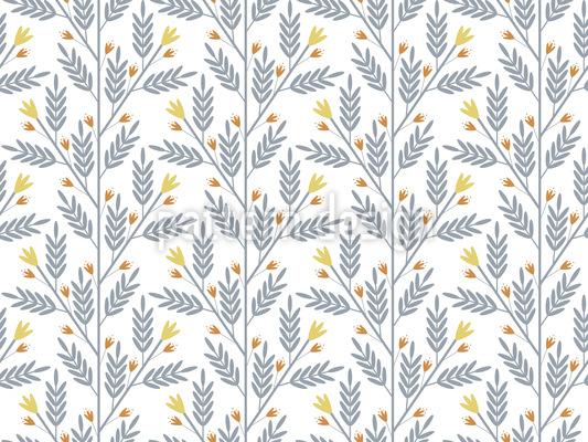 Campo Floral Fantasia Design de padrão vetorial sem costura