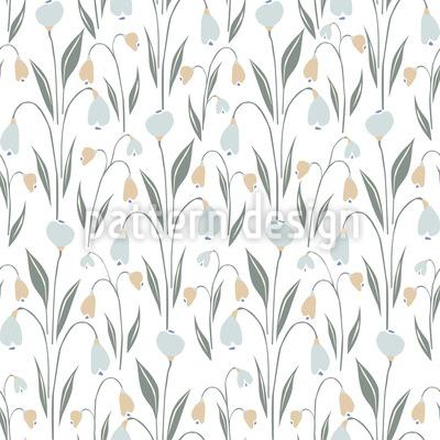 Fresh Spring Bloom Seamless Vector Pattern Design