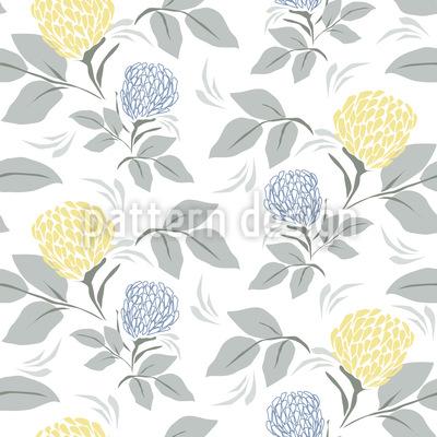 Campo de Primavera em flor Design de padrão vetorial sem costura