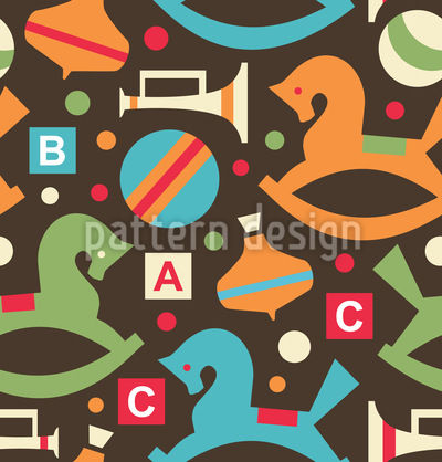Spielzeugkiste Vektor Muster