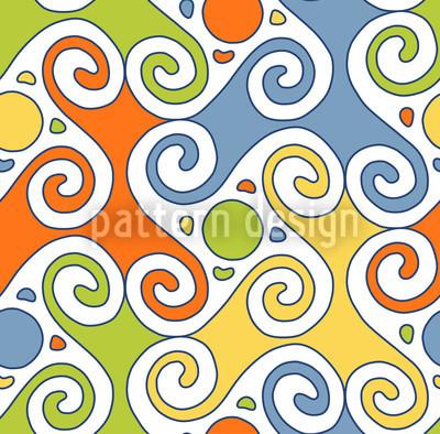 Colorful Cucuteni Design Pattern