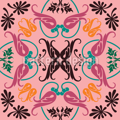 Floral Sheet Seamless Vector Pattern Design