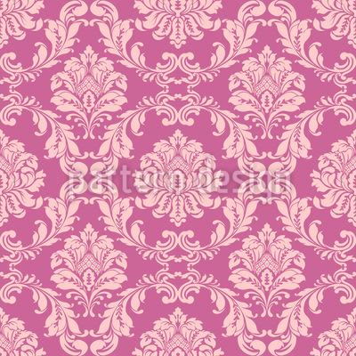 Florais Barrocos Design de padrão vetorial sem costura