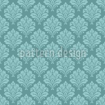 Senhora Barroca Design de padrão vetorial sem costura