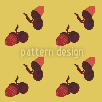 Acorns Seamless Pattern