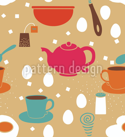 Breakfast Is Ready Seamless Vector Pattern