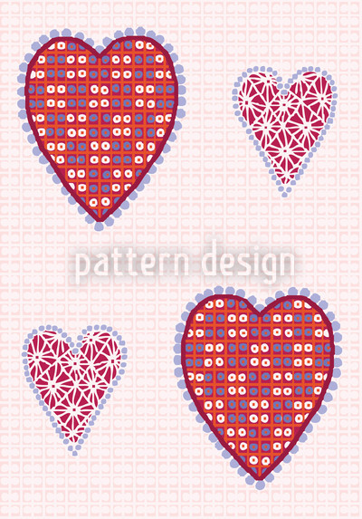 Heart Pictures Seamless Vector Pattern Design