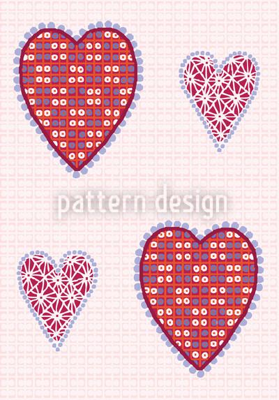 Herzbildchen Designmuster