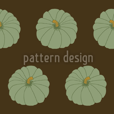 Decorative Gourd Brown Seamless Pattern