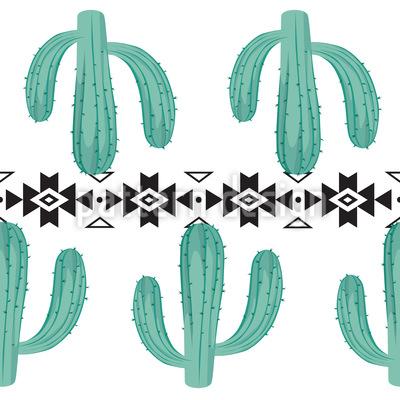 Kakteen mit Stammes-Elementen Vektor Muster