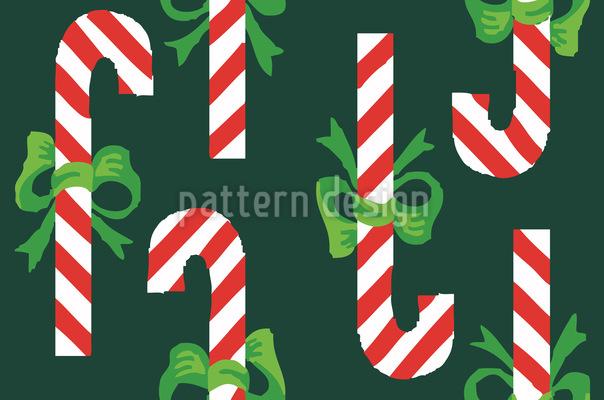 Zuckerstangen Grün Rapportiertes Design